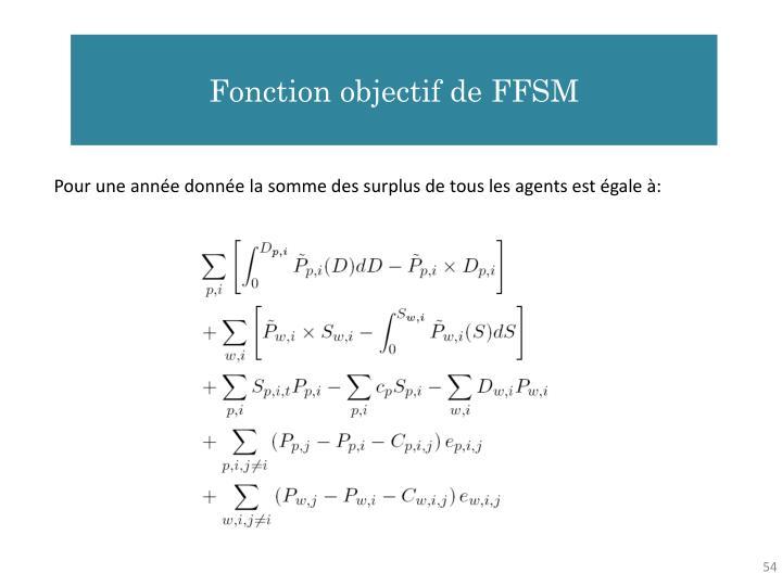 Fonction objectif de FFSM