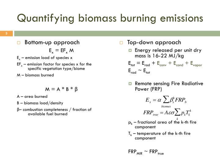 Quantifying biomass burning emissions