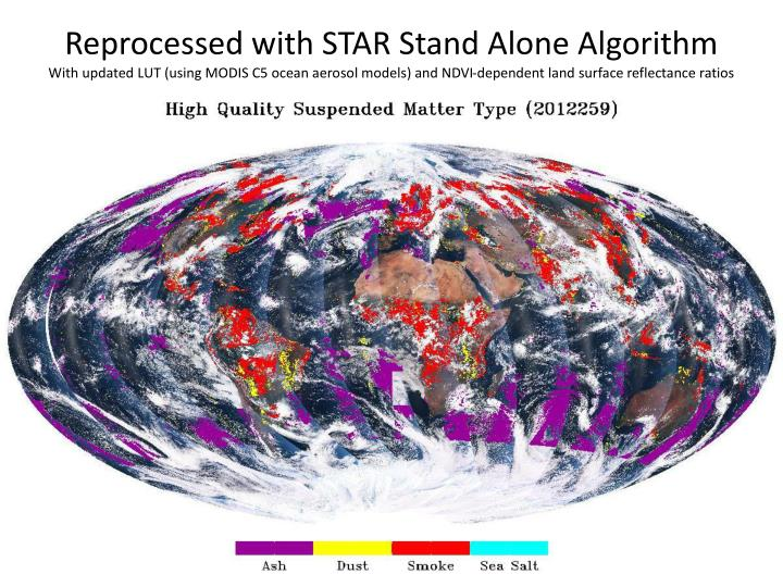 Reprocessed with STAR Stand Alone Algorithm