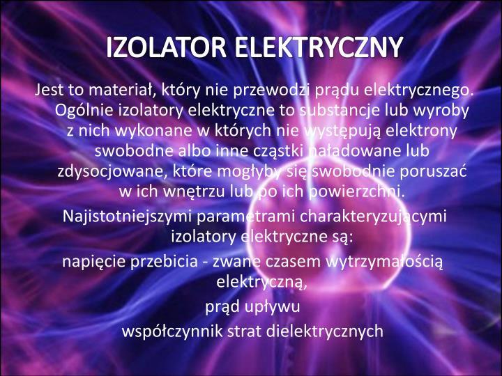 IZOLATOR ELEKTRYCZNY