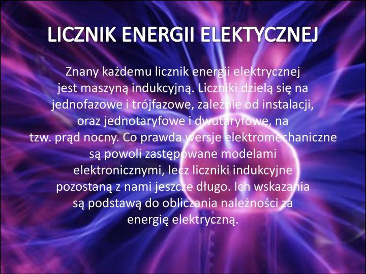 LICZNIK ENERGII ELEKTYCZNEJ