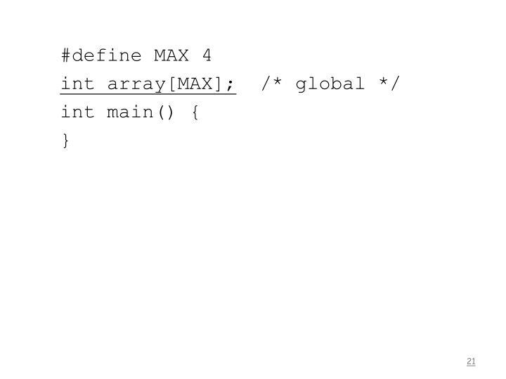 #define MAX 4