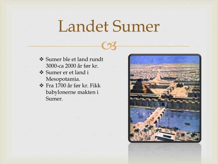 Landet Sumer