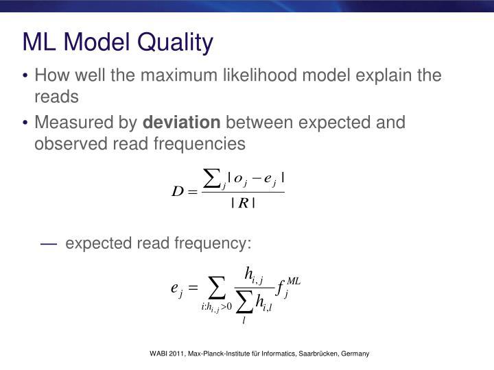 ML Model Quality