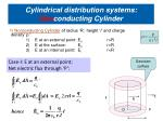 cylindrical distribution systems non conducting cylinder