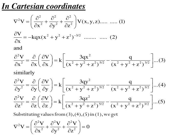 In Cartesian coordinates