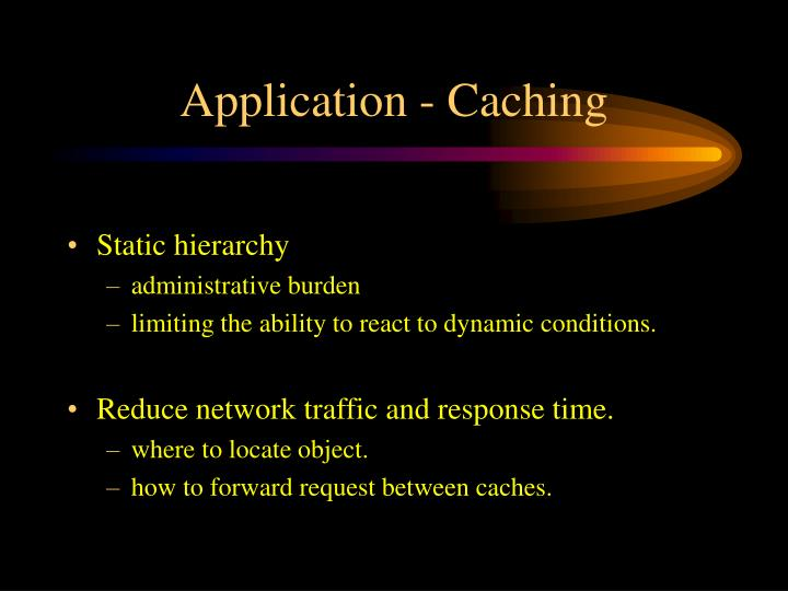Application - Caching