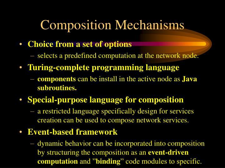 Composition Mechanisms