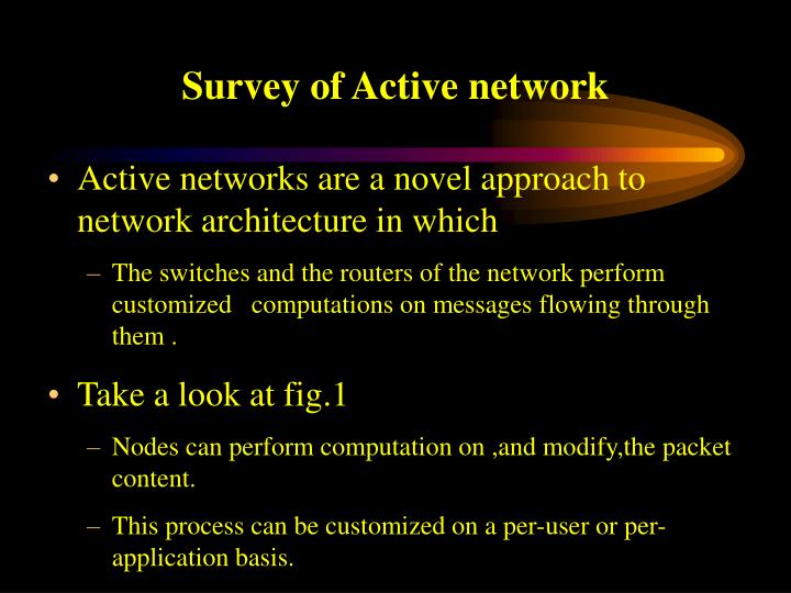 Survey of active network
