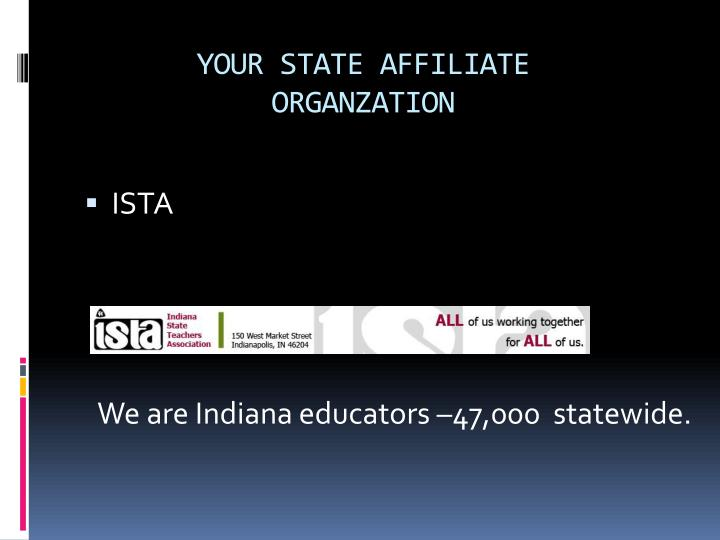 YOUR STATE AFFILIATE