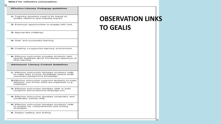 OBSERVATION LINKS