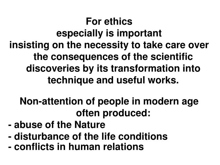 For ethics