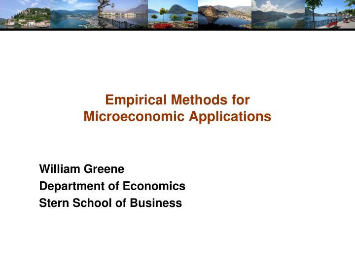Empirical Methods for