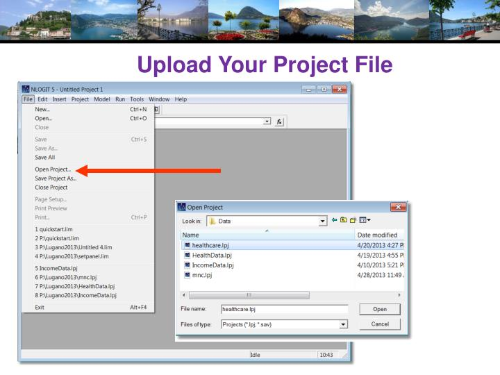 Upload Your Project File