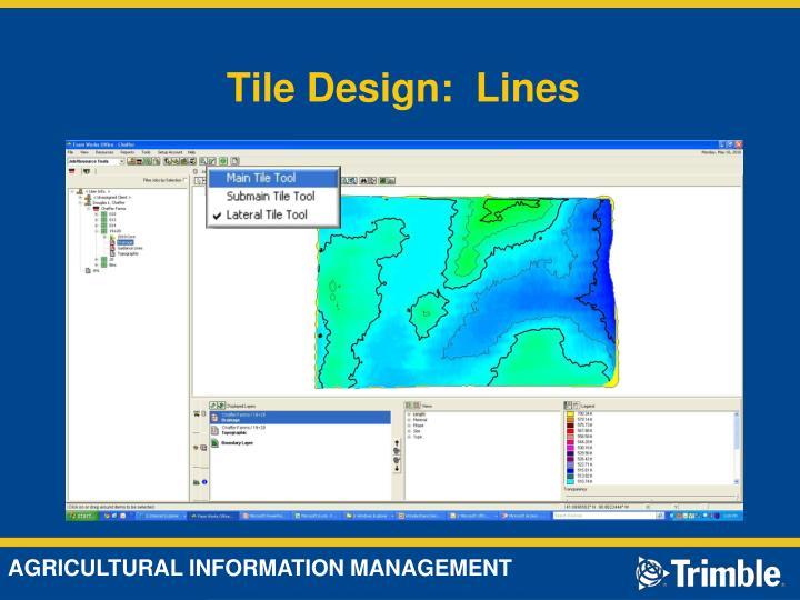 Tile Design:  Lines