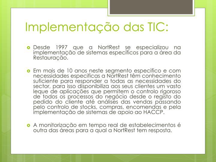 Implementação das TIC:
