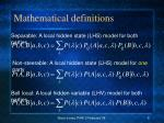 mathematical definitions