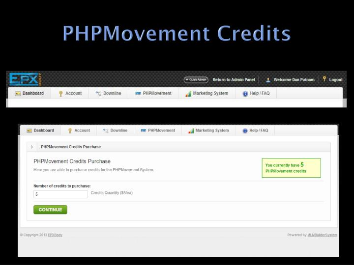 Phpmovement credits