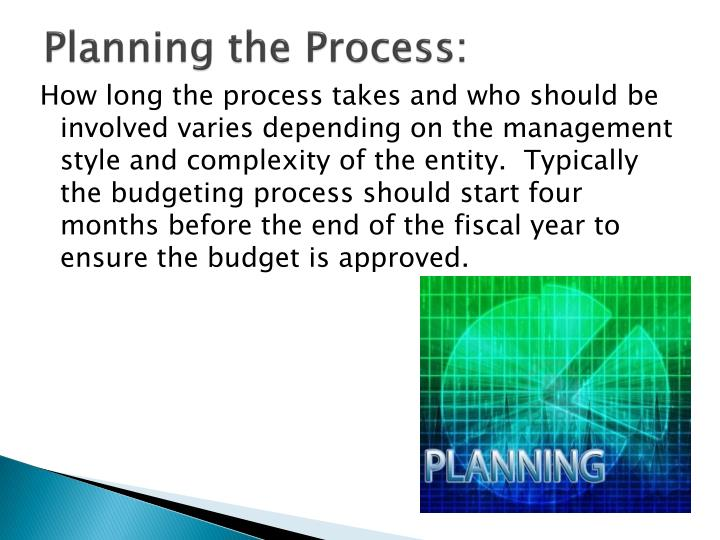 Planning the Process:
