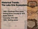 historical trends the lake erie ecosystem