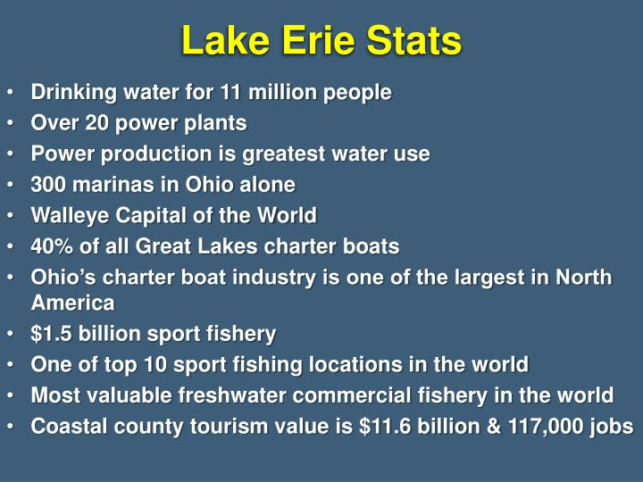 Lake Erie Stats