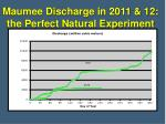 maumee discharge in 2011 12 the perfect natural experiment