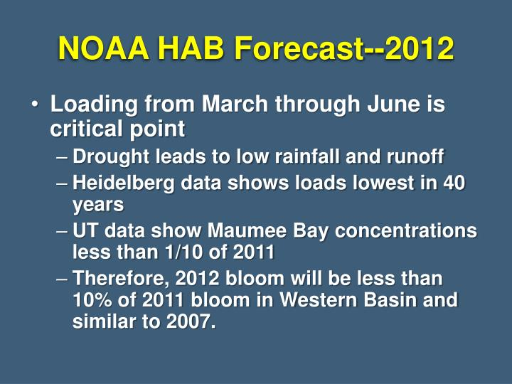 NOAA HAB Forecast--2012
