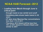 noaa hab forecast 2012