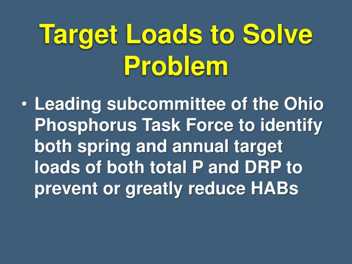 Target Loads to Solve Problem