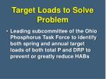 target loads to solve problem