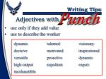adjectives with