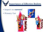 importance of effective bullets