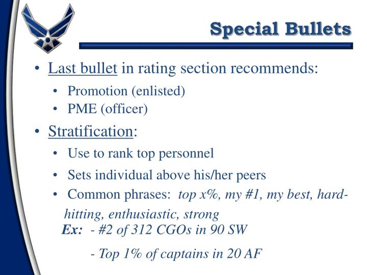Special Bullets