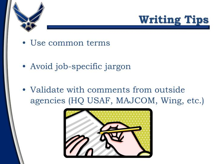 Use common terms