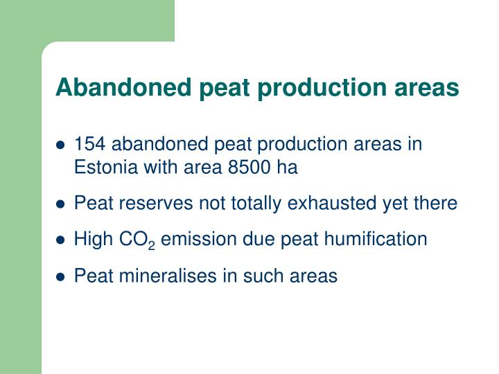 Abandoned peat production areas