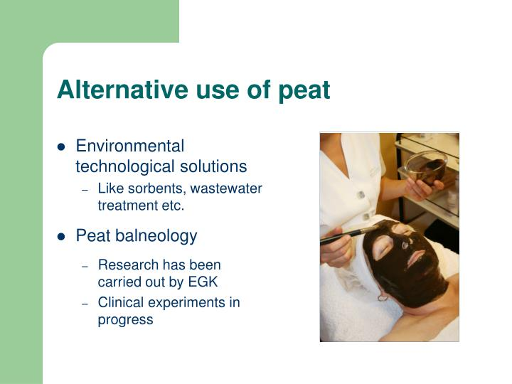 Alternative use of peat