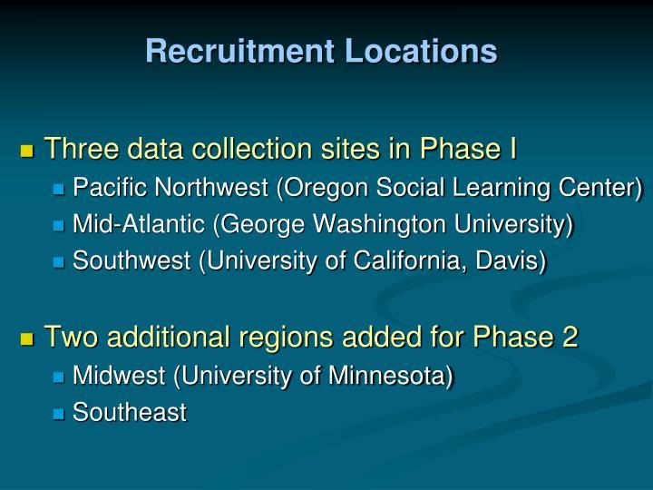 Recruitment Locations