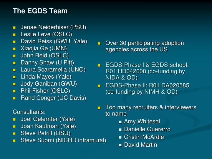 The EGDS Team