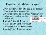 perataan teks dalam paragraf