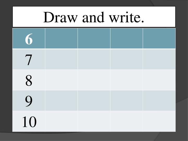 Draw and write.