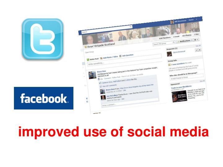 improved use of social media