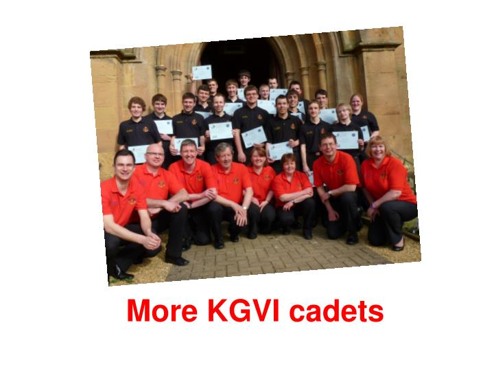 More KGVI cadets