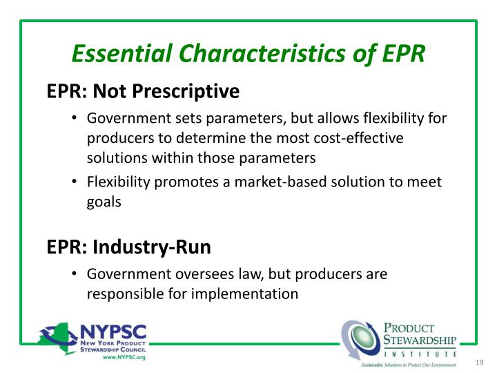 Essential Characteristics of EPR