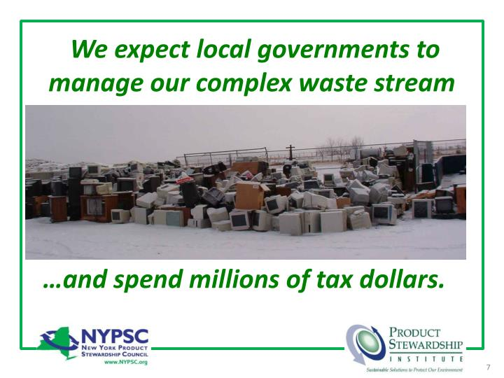 We expect local governments to