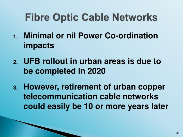 Fibre Optic Cable Networks