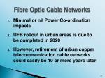 fibre optic cable networks