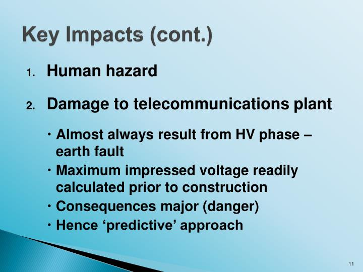 Key Impacts (cont.)