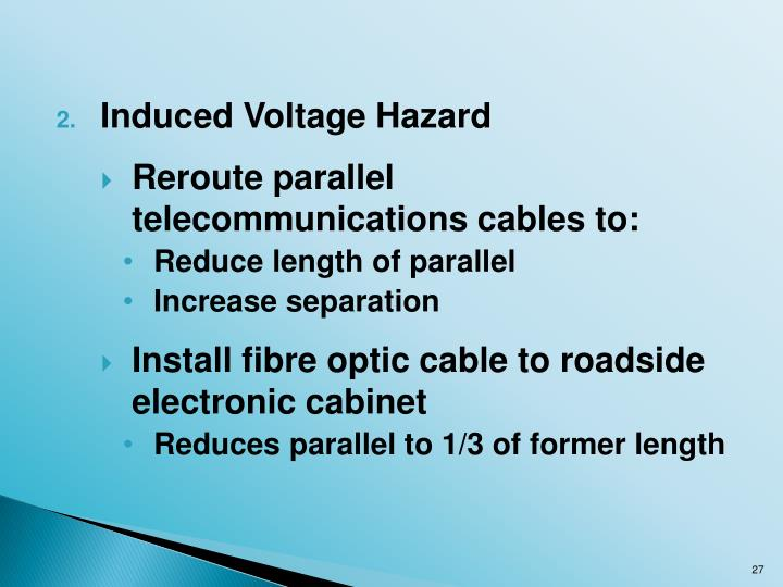 Induced Voltage Hazard