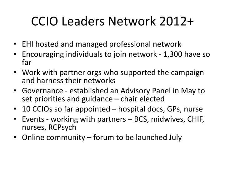 CCIO Leaders Network 2012+