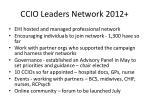 ccio leaders network 2012